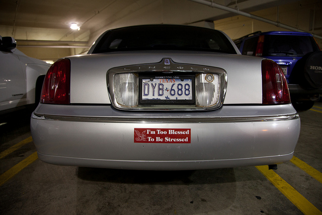 The bumper sticker I'm going to have to buy now, obviously.