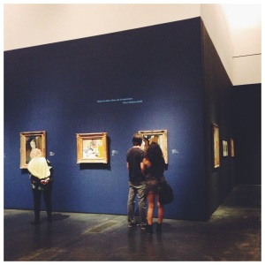 This photo is from the Van Gogh to Kandinsky exhibit the museum had all summer. It was so great I went twice.