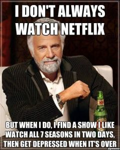 "Googling ""netflix memes"" will get you many, many hits."