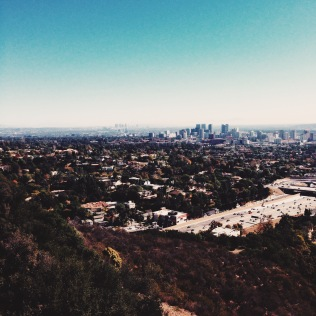 The view from the top of the Getty.