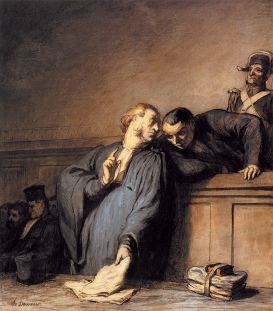 I did get to read this really great article (that used this painting by Honore Daumier as its photo) for extra credit for this class. Click through to read it.