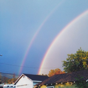 The rainbows on Tuesday afternoon were incredible.
