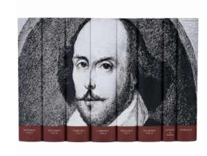 I have a huge Riverside Shakespeare that has seen much better days, but dang I would like this too.
