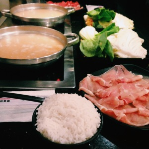 A snapshot of some hot pot I had this week. Good times.