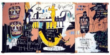 "I gave a presentation on this Basquiat painting in ENG 205 yesterday, and easily could have talked for hours about it. This painting is called ""Untitled (History of Black People),"" and it's Basquiat's reclamation of the Egyptians as black."