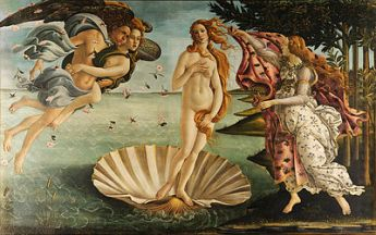 "Botticelli's ""The Birth of Venus"" is one of my favorite paintings, and I was so glad it popped up in this class."