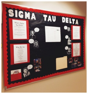 A Sigma Tau Delta board I'm very proud of.