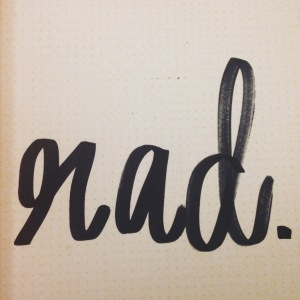 I did a quick series of sketchbook papers on words I use frequently. This was my favorite one.