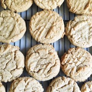 Homemade peanut butter cookies.